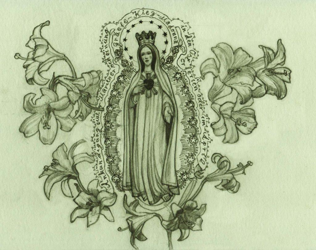 Illustration Graefekiez Madonna